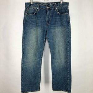 American Eagle 36 Low Loose Distressed Jeans